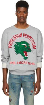 Gucci Grey 'Privilegium Perfectuum' Tiger Sweatshirt