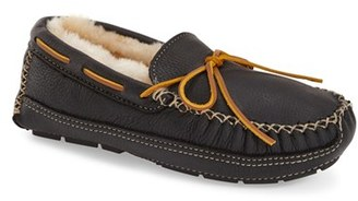 Men's Minnetonka Genuine Shearling Leather Slipper $89.95 thestylecure.com