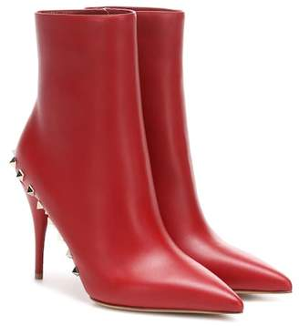 Valentino Jaw Studs leather ankle boots