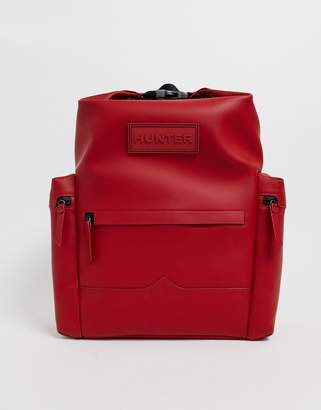 Hunter rubberised leather backpack
