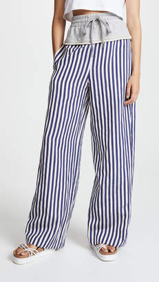 Alexander Wang Terry Stripe Combo Pull On Pants