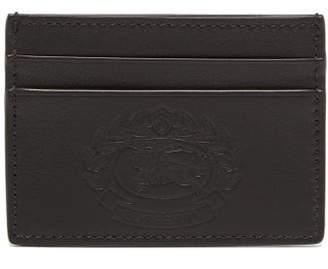 Burberry Logo Debossed Leather Cardholder - Mens - Black