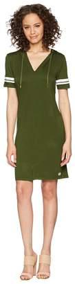 MICHAEL Michael Kors Stripe Sleeve Hoodie Dress Women's Dress