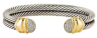 David Yurman Diamond Double Cable Cuff