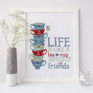 Wink Design Personalised 'Life Is Like A Tea Cup' Print