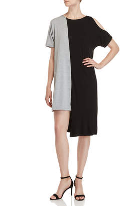 Patrizia Luca Asymmetrical Two-Tone Shift Dress