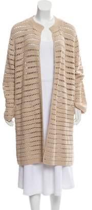 Akris Open Knit Heavy Cardigan Tan Open Knit Heavy Cardigan