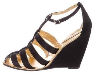 Opening Ceremony Satin Wedge Sandals