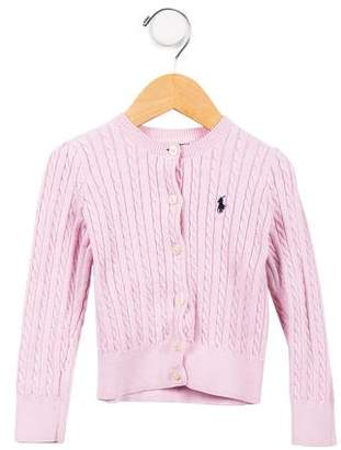 Polo Ralph Lauren Girls' Cable Knit Button-Up Cardigan