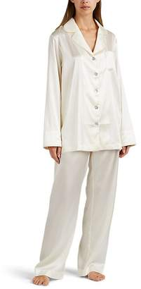 SLEEPER Women's Silk Satin Pajama Set