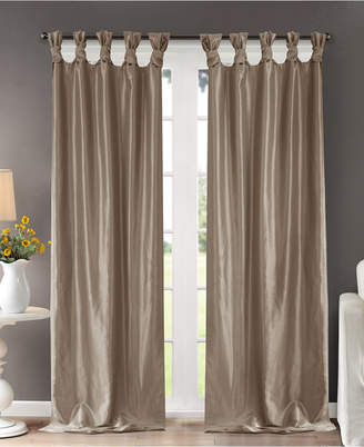 "Madison Park Emilia 50"" x 120"" Lined Faux-Silk Twisted Tab Window Panel"