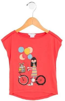 Little Marc Jacobs Girls' Printed Short Sleeve Top