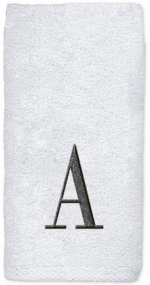 Avanti Monogram White Embroidered Hand Towel