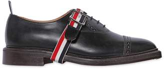Thom Browne Belted Brushed Leather Oxford Shoes