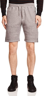The Kooples Patch Classic Fleece Shorts $165 thestylecure.com