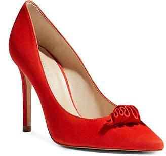 Karen Millen Women's Suede Frill High Heel Pumps
