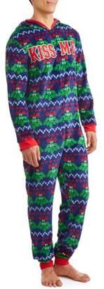 DEC 25TH Men's Sleep, Mistletoe Christmas Union Suit