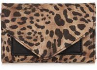 Topshop Leopard tri-fold purse