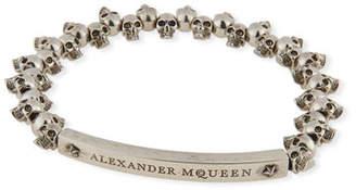 Alexander McQueen Men's Brass Mini-Skull Bead Bracelet