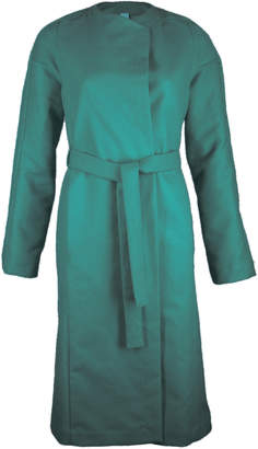 Format YUMI Green Moleskin Coat - L - Green