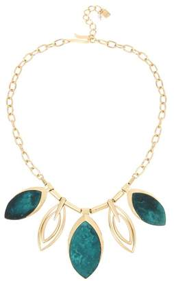 Robert Lee Morris Mixed Patina Oval Pendant Bib Necklace