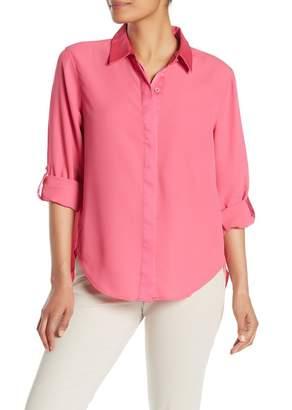 DKNY Covered Placket Long Sleeve Shirt