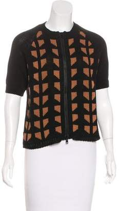 Marni Geometric Zip-Up Cardigan