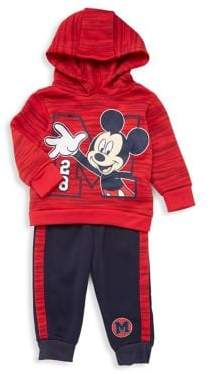 Nannette Baby Boy's Two-Piece Mickey Mouse Hooded Pajamas Set