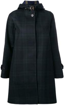 MACKINTOSH checked single-breasted coat