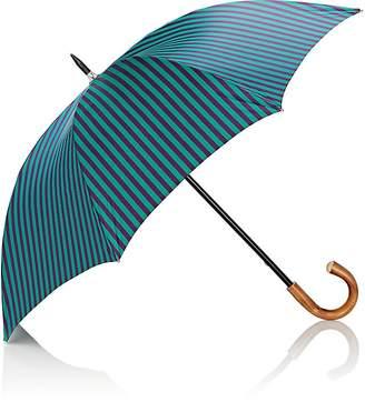 Barneys New York Men's Striped Tech-Twill Stick Umbrella