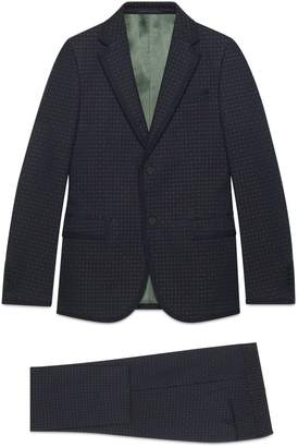 Gucci Monaco empty dots twill suit
