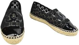 Chanel Black Cloth Espadrilles
