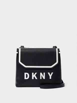 DKNY Jade Leather Flap Crossbody