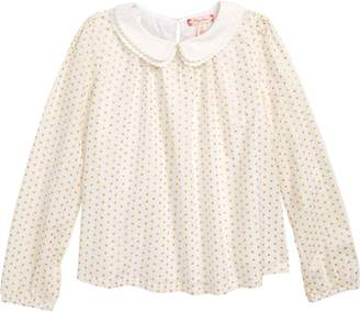 Ruby & Bloom Double Collar Dot Top