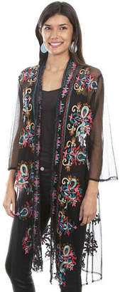 Scully Embroidered Mesh Duster