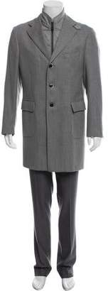 Luigi Bianchi Mantova Knit Wool Top Coat