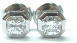 Tiffany & Co. 950 Platinum & 1.24ct Diamond Lucida Stud Earrings