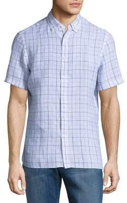 Black & Brown Black Brown Weekend Plaid Short-Sleeve Linen Shirt