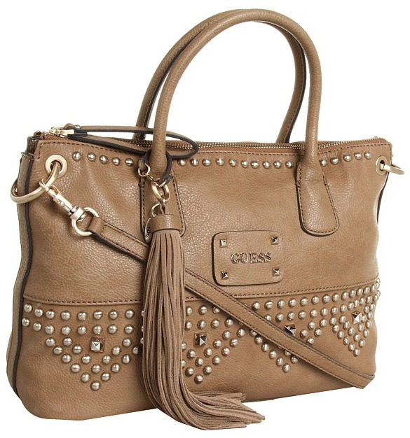 GUESS Pavilla Satchel (Camel) - Bags and Luggage
