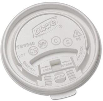 Georgia Pacific Professional Dixie White Plastic Lids for Hot Drink Cups, 1000 Count -DXETB9540