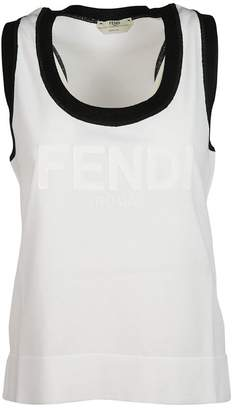 Fendi Logo Patch Tank Top