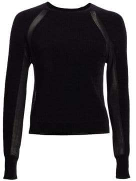 Rag & Bone Verity Mixed Media Pullover