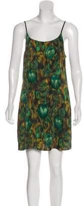 Alice + Olivia Printed Sleeveless Slip Dress