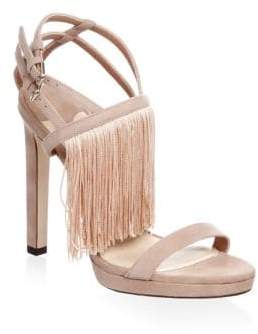 Jimmy Choo Fringe Suede Stiletto Sandals