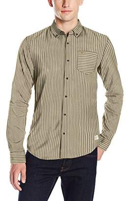Scotch & Soda Men's Button Down Shirt in Brushed Cotton Quality