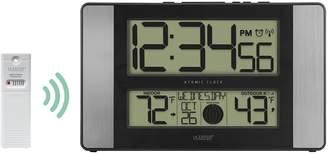 La Crosse Technology Atomic Digital Wall Clock with Aluminum Side Panels
