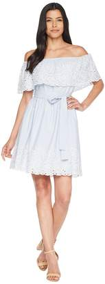 CeCe Off the Shoulder Dress w/ Embroidered Edge Women's Dress