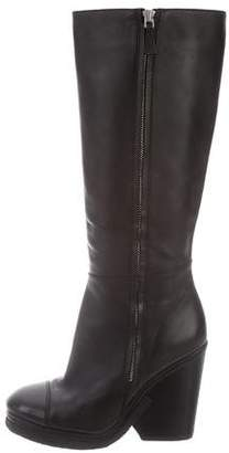 Marc Jacobs Leather Platform Knee-High Boots