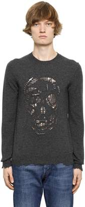Alexander McQueen Cutout Skull Sweater W/ Metal Rings