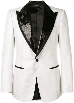 Dolce & Gabbana sequin lapels single breasted blazer